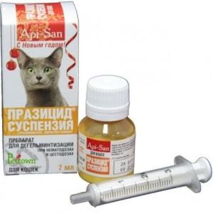 Празицид: суспензия сладкая для взрослых кошек